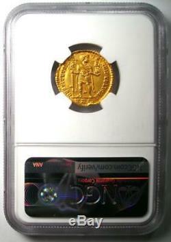 Western Roman Valentinian I AV Solidus Gold Coin 364-375 AD NGC MS (UNC)