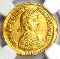 Western Roman Valentinian III AV Solidus Gold Coin 425-455 AD NGC Choice XF