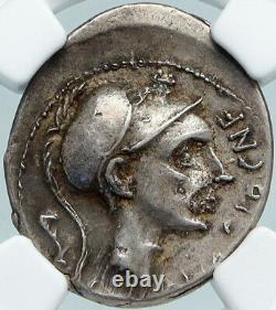 112bc Roman Republic Rome General Scipio Africanous Silver Coin Ngc I88367