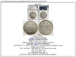 1632 Autriche Saint Empire Romain Archduke Leopold V Silver Taler Coin Ngc I85148