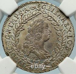 1765 Autriche Empereur Romain Franz Ier Argent 20 Kreuzer Autrichien Ngc Coin I83712