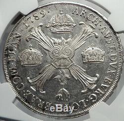 1789 Italie Etats Italiens Milan Saint Roman Duc Joseph II Argent Monnaie Ngc I82365