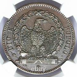1849-r Italie République Romaine 3 Baiocchi Flat Top 3 Coin Ngc Au 55 Bn Km# 23.2