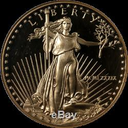 1989-w Gold Eagle Américain $ 50 Ngc Pf70 Ultra Cameo Roman Brown Étiquette Numéral