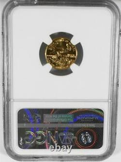 1991 5 $ 1/10e Ounce Roman Numeral Mint State American Gold Eagle Ngc Ms 70