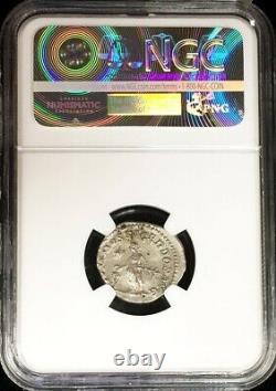 218 222 Ad Silver Empire Romain Denarius Elagabalus Sacrificing Coin Ngc Au