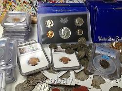 30 Pièces De Monnaie Lot Silver Barber Standing Walking Liberty Pcgs/ngc Proof Roman Gold#&20