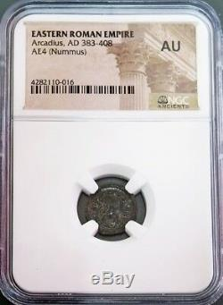 383 408 Annonce Empire Romain Oriental Arcadius Ae4 Nummus Coin À Propos De Unc