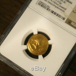 44 Bc Jules Cesar De Aureus Ancienne Pièce D'or De Ngc Choix Vf 4/5 4/5 Rare