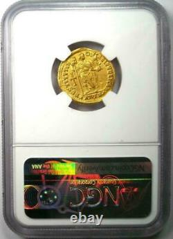 Ad 364 375 Western Roman Empire Valentinian I Av Solidus Pièce D'or Ngc Ch Vf