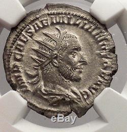 Aemilian 253ad Ngc Certifié Ch Au Argent Antique Pièce De Rome Romaine Apollo I54739