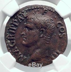 Agrippa Auguste Coin Général Romain Antique Caligula Ngc I80905