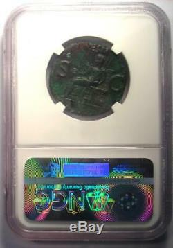 Ancien Caligula Ae Comme Vesta Coin 37-41 Ad Certifié Ngc Xf (ef)