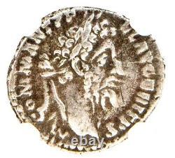 Ancien Empereur Romain Commodus Silver Coin Ngc Certifié Vf & Story, Certif