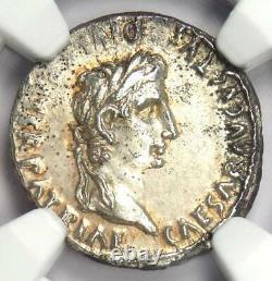 Ancien Romain Auguste Ar Denarius Numismatique, 27 Bc 14 Ad Certifié Ngc Choix De L'ua