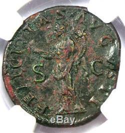 Ancien Romain Hadrien Ae Dupondius Monnaie 117-138 Certifié Ngc Xf (ef)