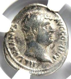 Ancien Romain Hadrien Ar Denarius Aegyptos Coin 117-138 Certifié Ngc Fin