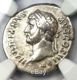 Ancien Romain Hadrien Ar Denarius Monnaie 117-138 Certifié Ngc Vf