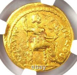 Ancien Romain Tibère Or Av Aureus Livia Coin 14-37 Ad Certifié Ngc Fin