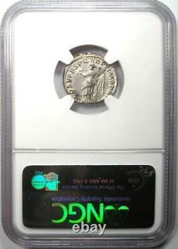 Ancien Romain Trajan Ar Denarius Argent Monnaie 98-117 Certifié Ngc Au