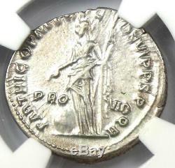 Ancien Romain Trajan Ar Denarius Argent Monnaie 98-117 Certifié Ngc Au Rare