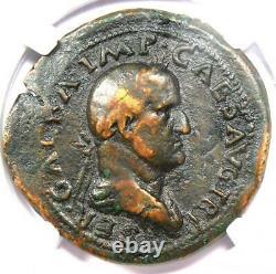 Ancien Roman Galba Ae Sestertius Libertas Coin 68-69 Ad Certifié Ngc Fine
