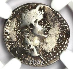 Ancien Tibère Romain Ar Denarius Argent Hommage Penny Coin 14-37 Ad Ngc Vf