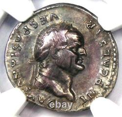 Ancien Vespasien Romain Ar Denarius Silver Coin 69-79 Ad Certifié Ngc Vf