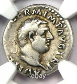 Ancien Vitellius Romain Ar Denarius Coin 69 Ad Ngc Choix Fine Rare