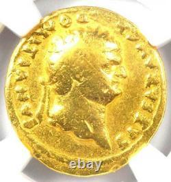 Ancienne Or Domitienne Romaine Av Aureus Coin 81-96 Ad Certifié Ngc Fine