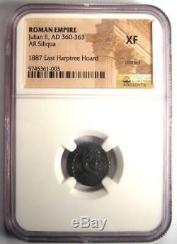 Ancient Julian Roman II Ar Siliqua Rome Pièce De Monnaie 360-363 Ad Certifié Ngc Xf
