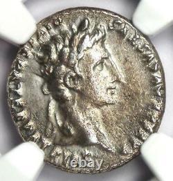 Ancient Roman Augustus Ar Denarius Coin 27 Av 14 Ad Certifié Ngc Choice Vf
