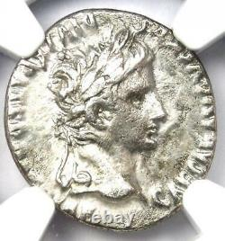 Ancient Roman Augustus Ar Denarius Coin 27 Av. J.-c. 14 Ad Certifié Ngc Vf