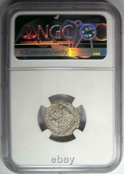 Ancient Roman Augustus Ar Denarius Coin 27 Bc 14 Ad Certifié Ngc Choice Au