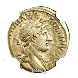 Ancient Roman Emperor Hadrian Silver Coin Ngc Certifié Fine & Story, Certificat