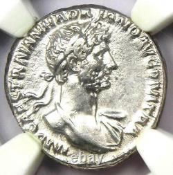 Ancient Roman Hadrian Ar Denarius Coin 117-138 Ad Certifié Ngc Choice Xf (ef)