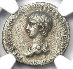 Ancient Roman Nero Ar Denarius : Caesar Coin 54-68 Ad Certified Ngc Choice Vf