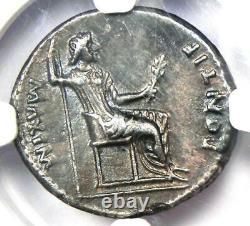 Ancient Roman Tiberius Ar Denarius Silver Coin 14-37 Ad. Certifié Ngc Choice Xf
