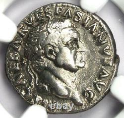 Ancient Roman Vespasian Ar Denarius Silver Coin 69-79 Ad Certifié Ngc Xf (ef)