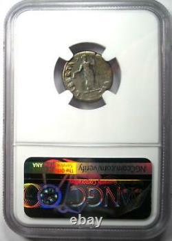Ancient Roman Vitellius Ar Denarius Coin 69 Ad Certifié Ngc Vg (très Bon)