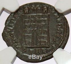 Année 337-361 Ad Empire Romain Ae3 (bi Nummus) Constantius II Coin Ngc Choix Xf