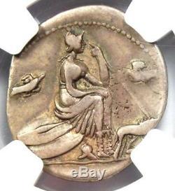 Anonymous Roman Ar Denarius Silver Coin 115 Bc Certifié Ngc Bon Choix