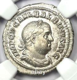 Antique Roman Balbinus Ar Denarius Silver Coin 238 Ad Ngc Au Avec Style Fin