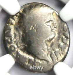Antique Roman Nero Ar Denarius Coin 54-68 Ad Certifié Ngc Bonne Pièce Rare