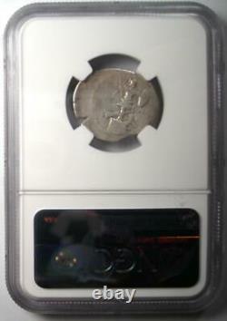 Ar Denarius Auguste Octavian Silver Coin 30-29 Bc Certifié Ngc Bon Choix