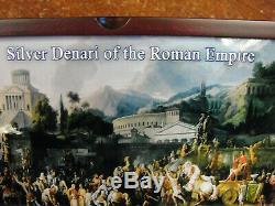 Argent Denari Du Empire Romain Coin Set Commodus Geta Denier Caesar Ngc
