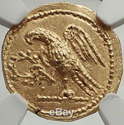 Assassin Romain De Brutus Julius Caesar 44bc Or Pièce De Monnaie Grecque Antique Ngc Ms I68143