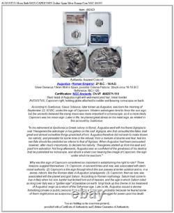 Augustaus Lune Sign De Naissance Capricorn Zodiac Espagne Argent Roman Coin Ngc I86393