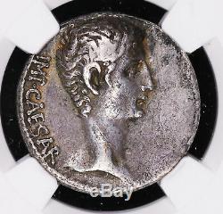 Auguste -27 14 Ad Cistophorus Ancien Empire Romain Coin Six Grains Oreilles C