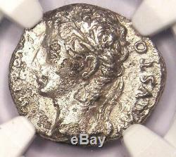 Auguste Ar Denarius Coin -27 14 Ad, Espagnol Monnaie Certifié Ngc Vg